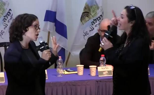 מירי רגב נגד רחל עזריה (תמונת AVI: בן רבסקי)