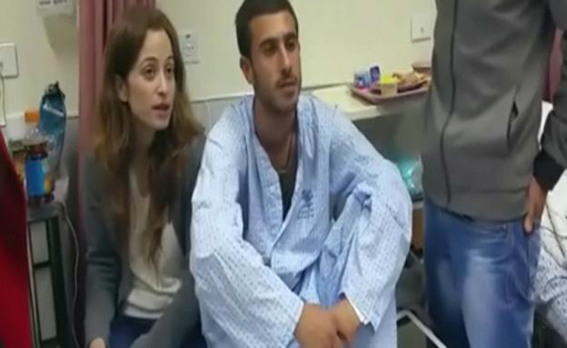 לוחם שנפגע במארב בהר דב משחזר את תקרית הירי (צילום: חדשות 2)