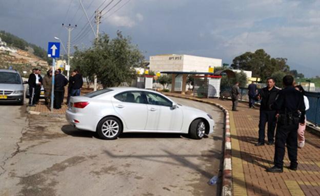 זירת התאונה, היום (צילום: גדעון וקנין)