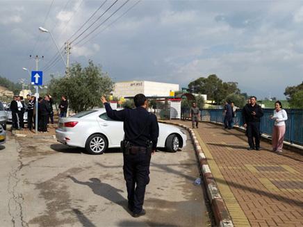 זירת התאונה הקשה (צילום: גדעון וקנין)