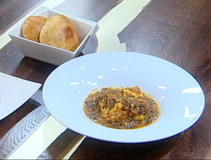 דג מרוקאי ים תיכוני ולחם פרנה (צילום: קשת, מאסטר שף VIP)