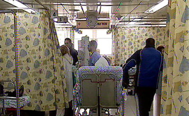 עומס בבית חולים (צילום: חדשות 2)