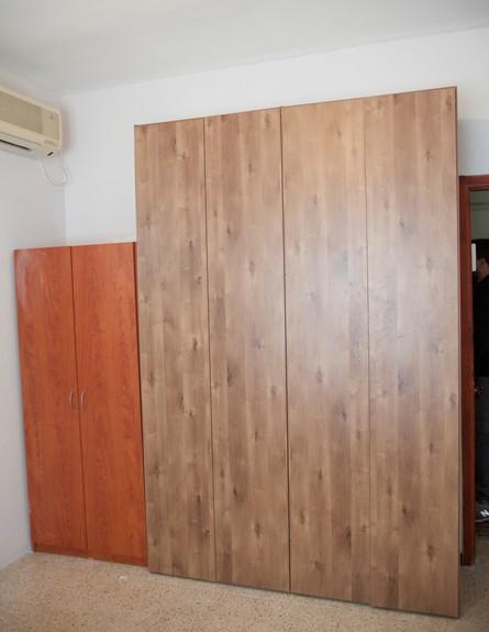 חדר שינה, ציפוי ארון  (צילום: טטיאנה פאוטוב)