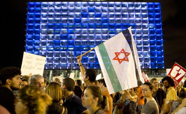הפגנת שמאל בתל אביב, אוגוסט 2014 (צילום: ap)