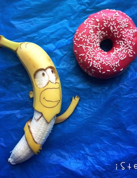 אומנות בבננה (צילום: Stephan Brusche)