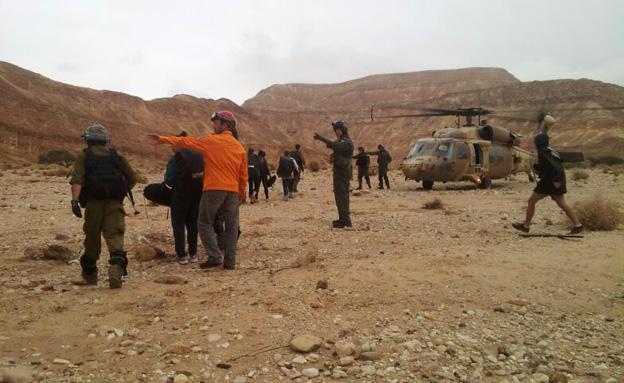 צוותי חילוץ הוזעקו (צילום: יחידת חילוץ ערבה)