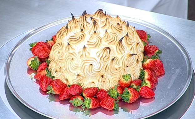עוגת אלסקה בומב (צילום: קשת, מאסטר שף VIP)