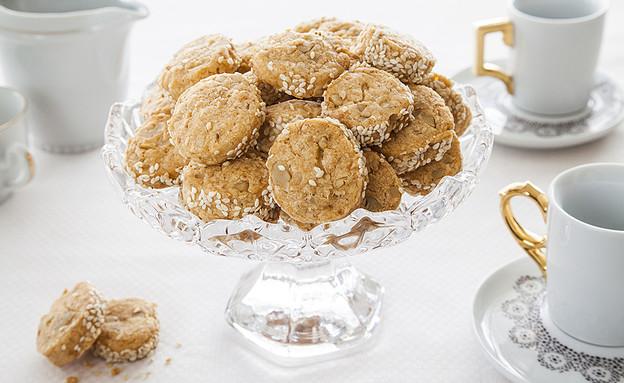 עוגיות פרמזן ואגוזים מלוחות (צילום: אסף אמברם, אוכל טוב)