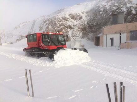 """בחרמון יירד שלג כבד (צילום: חטיבת דובר צה""""ל)"""