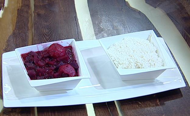 מרק קובה סלק ואורז (צילום: קשת, מאסטר שף VIP)