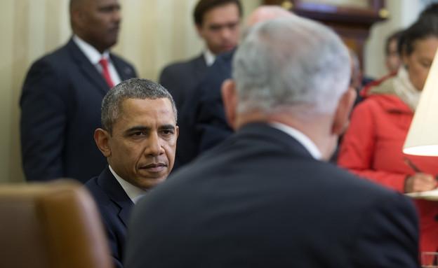 ברק אובמה ובנימין נתניהו בפגישה בוושינגטון, מארס 2014 (צילום: Pool, GettyImages IL)
