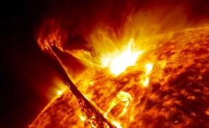 """השמש, מתוך סרטון ה-5 שנים (צילום: נאס""""א)"""