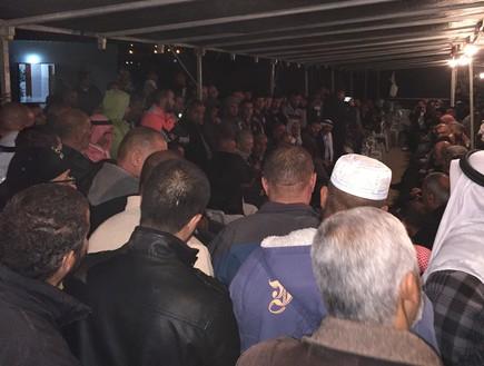 עבדאללה נימר דרוויש (במרכז), מייסד התנועה האיסלמית בישראל (צילום: טל שניידר)