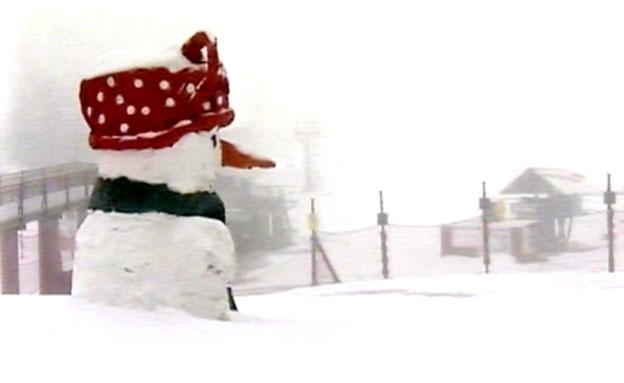 שלג בחרמון ממחר. ארכיון (צילום: חדשות 2)
