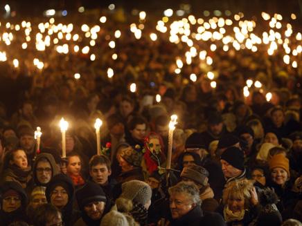 העצרת בקופנהגן, הערב