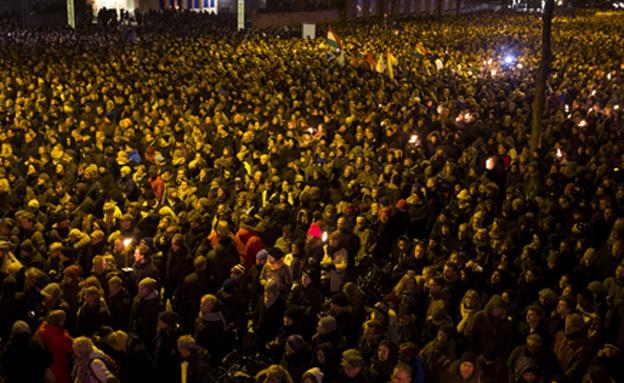 עצרת בקופנהגן (צילום: חדשות 2)