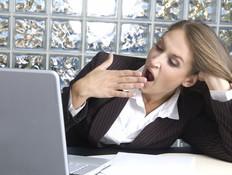 אשת עסקים עייפה