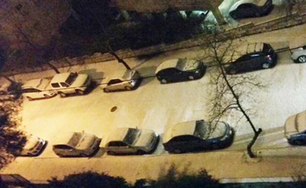 שלג בירושלים, הערב (צילום: עמית ולדמן)