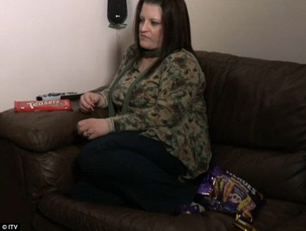 מכורה לשוקולד (צילום: תכנית הבוקר של ITV, dailymail.co.uk)
