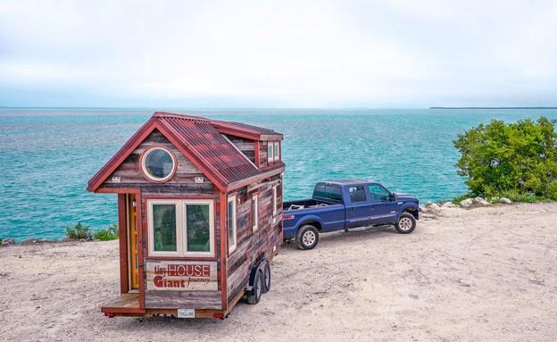 בית קטן בדרכים (צילום: מתוך עמוד הפייסבוק של Tiny House Giant Journ)