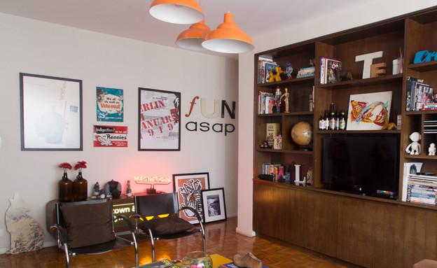 דירה בסן פאולו. סלון (צילום: Rafaela Paoli)
