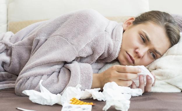 אישה חולה (צילום: אימג'בנק / Thinkstock)