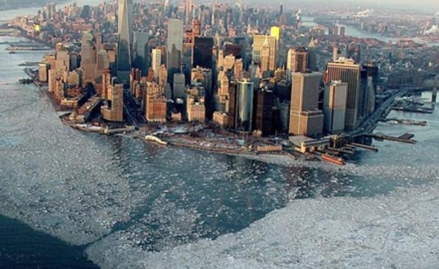 צפו בניו יורק הקפואה (צילום: CBS news)