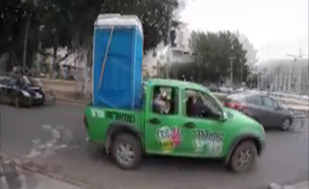 רכב השירותים של מרצ (צילום: חדשות 2)