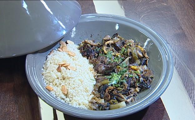 כבדי עוף בלימונים ופטריות (צילום: קשת, מאסטר שף VIP)