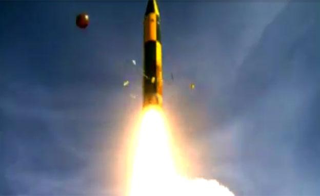 ניסוי טיל חץ 3, ארכיון (צילום: דוברות משרד הבטחון)