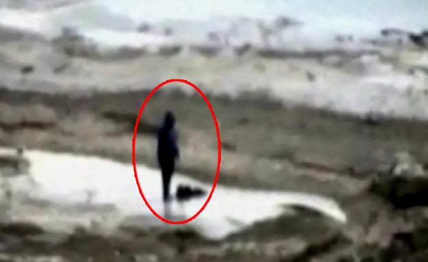 תיעוד מצלמות התצפית שנחשף (צילום: חדשות 2)