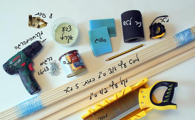 משלוח מנות, ארגז, חומרים (צילום: לירון גונן)
