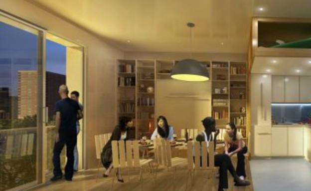 דירת מיקרו בניו יורק, בלומברג מבקר בדירה (צילום: מתוך הפליקר של עיריית ניו יורק)