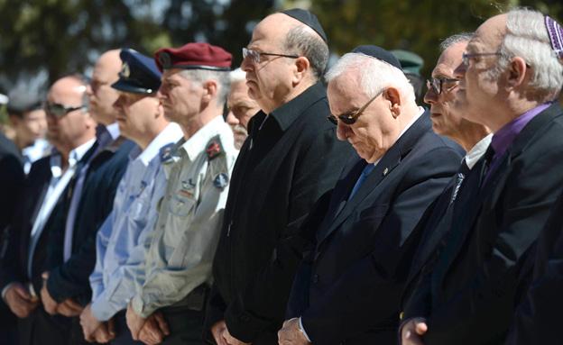 """הטקס בהר הרצל, היום (צילום: מארק ניימן/לע""""מ)"""