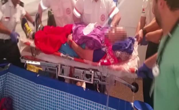 פצוע מרתון תל אביב (צילום: חדשות 2)