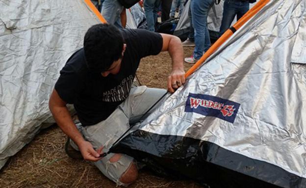 הפגנה, אוהל, רוטשילד (צילום: עזרי עמרם)