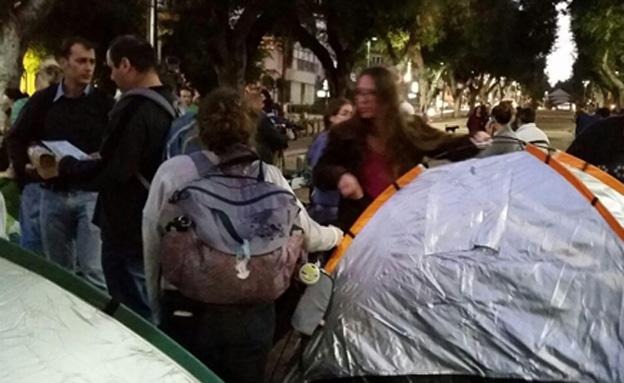 רוטשילד, אוהלים, (צילום: עזרי עמרם)