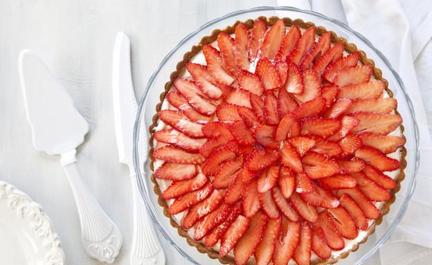 פאי תותים עם קרם מסקרפונה (צילום: אסף אמברם, אוכל טוב)