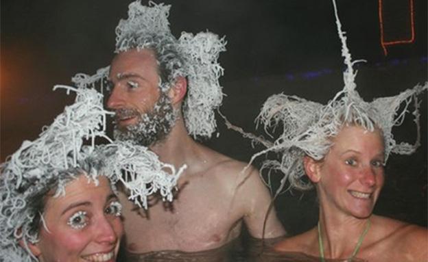 כך נראה שיער שקפא ב30- מעלות (צילום: רויטרס)