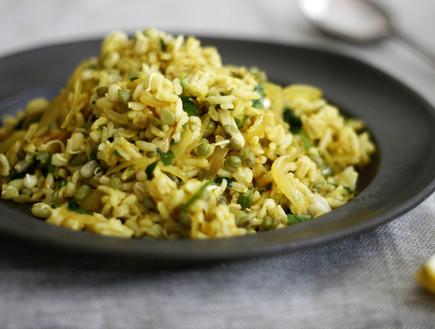 מג'דרה מאורז מלא ושעועית מש
