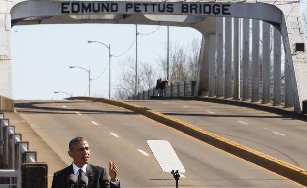 אובמה נואם בצעדה בסלמה
