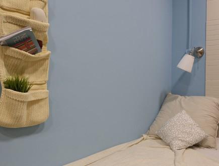 דירת עצמאות סטודיו פנימה 10, תוכנן גם חדר שינה עם ארון בגדים