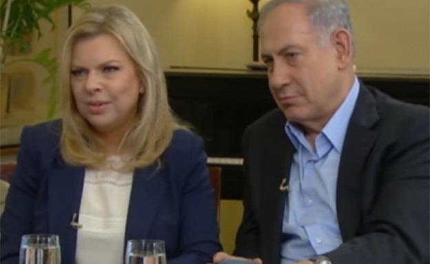 הזוג נתניהו בריאיון זוגי (צילום: ערוץ 24)