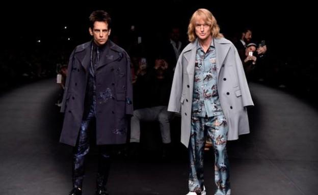 בן סטילר ואוון ווילסון בשבוע האופנה בפריז (צילום: טוויטר)