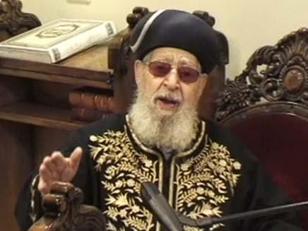 """הרב עובדיה יוסף ז""""ל (צילום: חדשות 2)"""