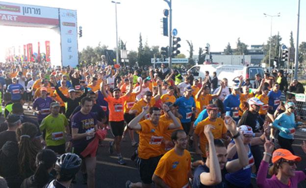 מרתון ירושלים (צילום: חדשות 2)