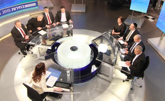 מחר: כל ראשי המפלגות במשדר מיוחד (צילום: חדשות 2)