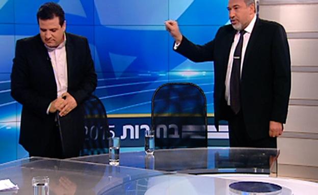 צפו בעימות באולפן (צילום: חדשות 2)