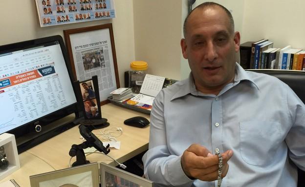 שמעון בטאט, מנהל מטה הבחירות של המחנה הציוני (צילום: טל שניידר)