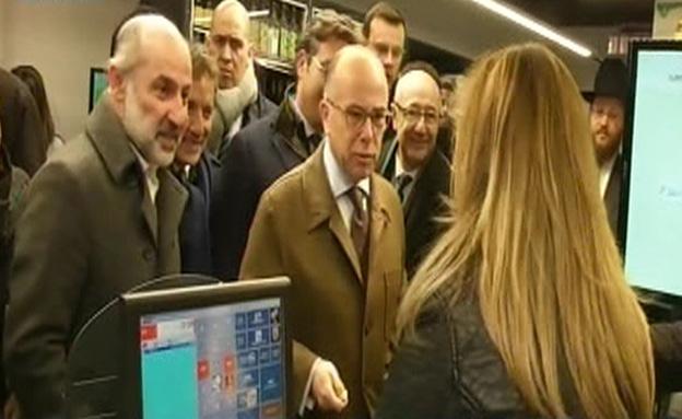 שר הפנים הצרפתי - לקוח ראשון בהיפר כשר (צילום: BFM)